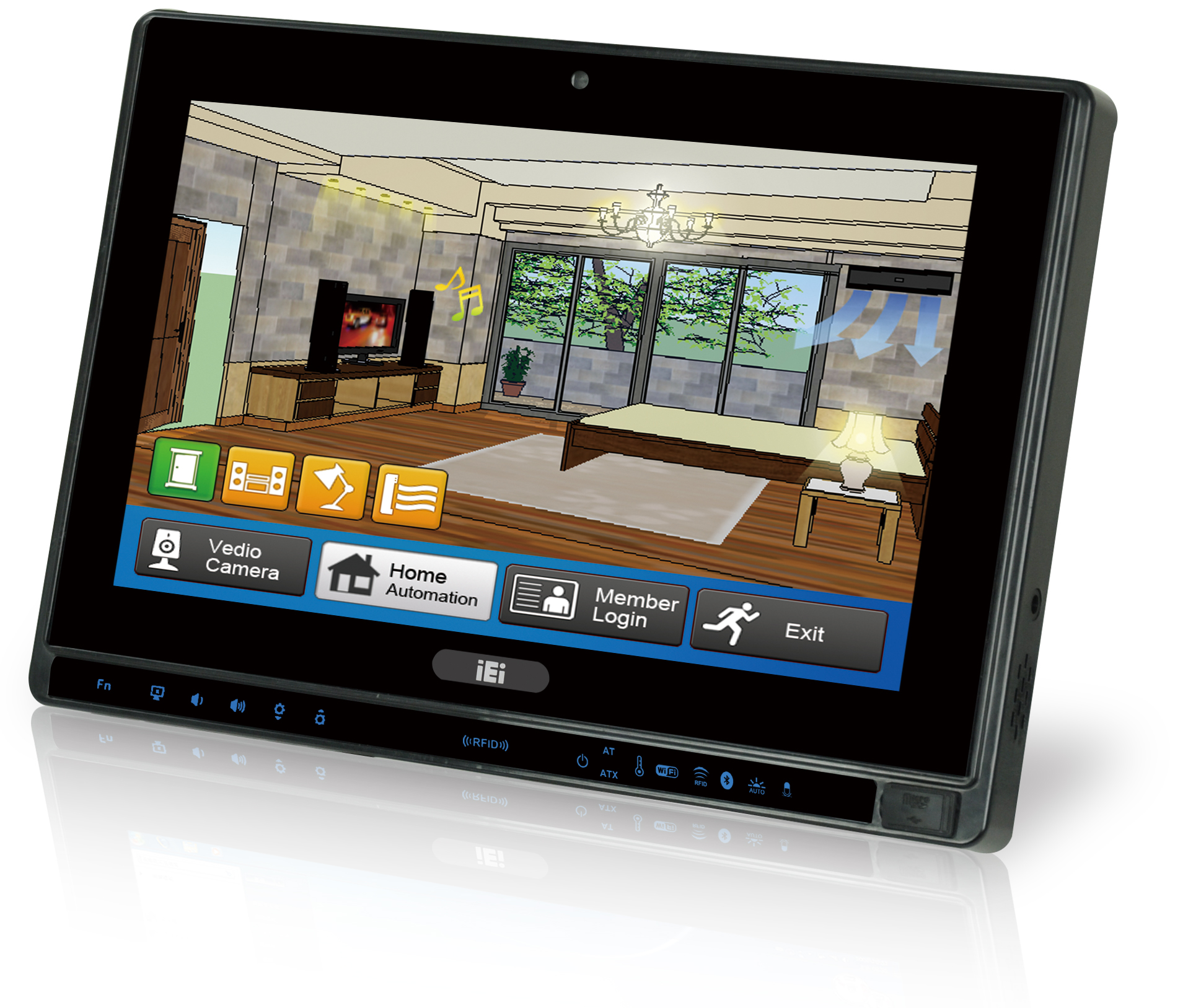 "10.2"" Widescreen Touch Panel PC with Intel® Atom™ N2800 Processor."